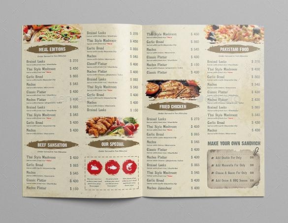 in nhanh menu tại hcm