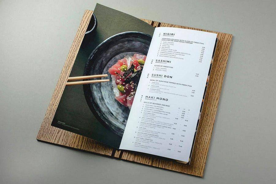 menu bìa cứng